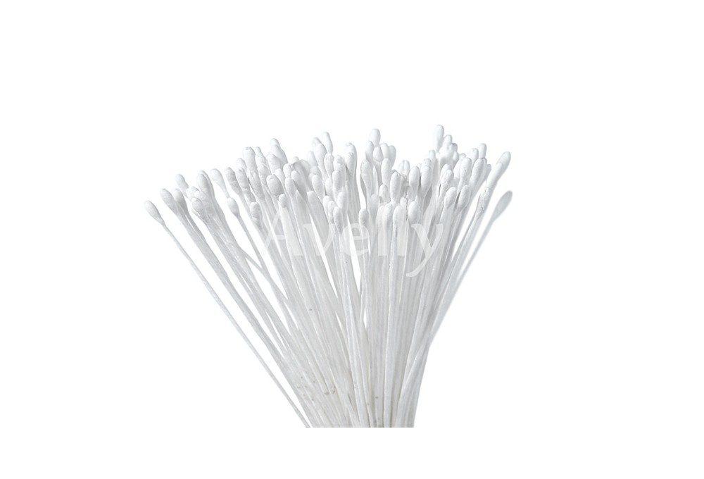 японские тычинки белого цвета овальные