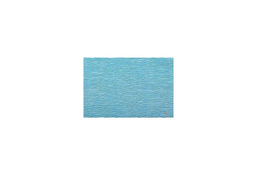гофрированная бумага голубая