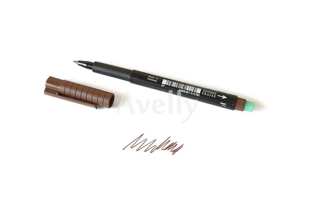 коричневый перманентный маркер