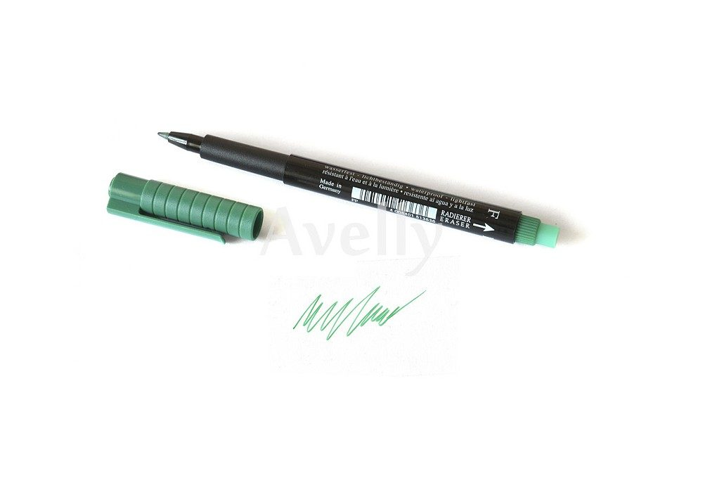 перманентный зеленый маркер