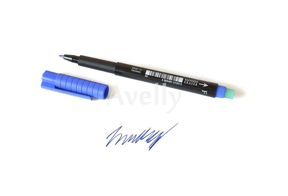 синий перманентный маркер