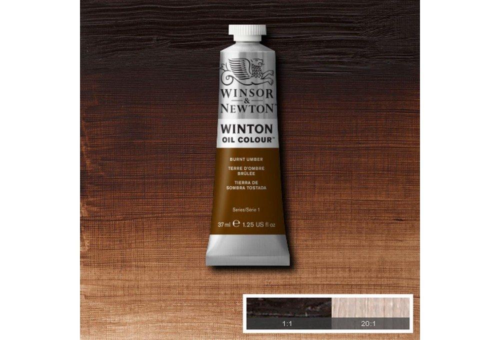 Выкраска масляной краски Winton Жженая умбра (Burnt Umber)