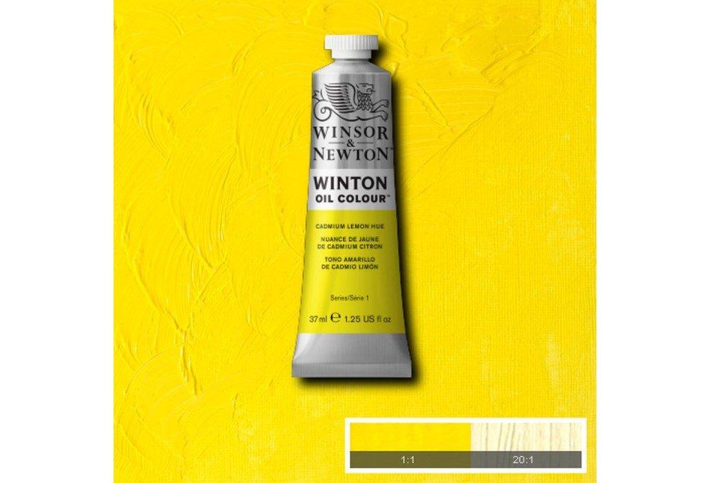 Выкраска масляной краски Winton Лимонный кадмий (Cadmium Lemon Hue)