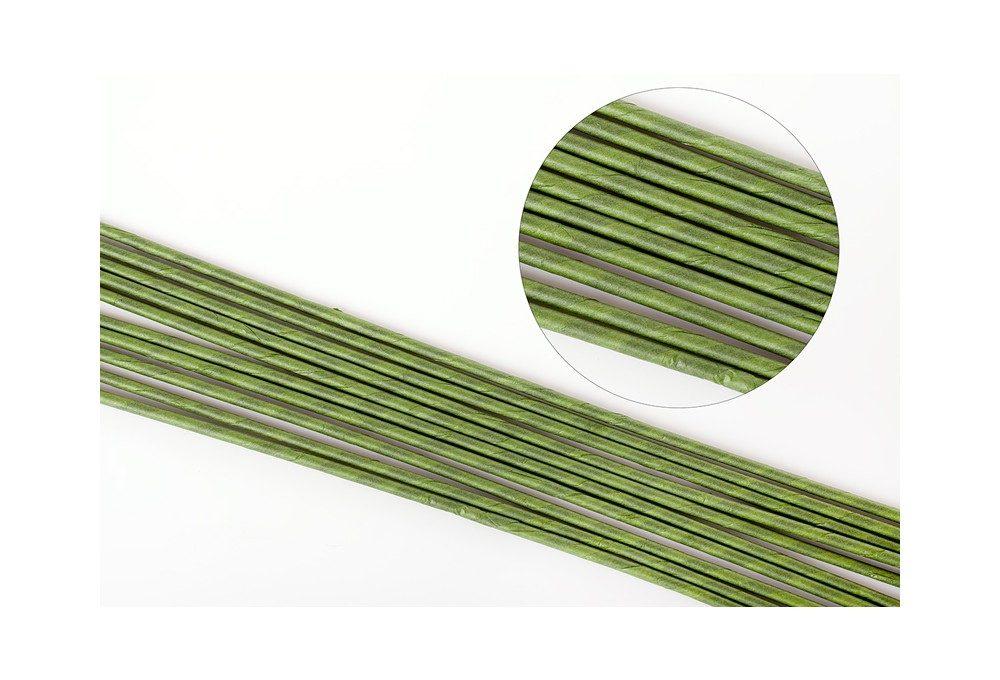 проволока в бумажной обмотке для полимерной глины и цветов ручной работы, №16,45 см, зеленая