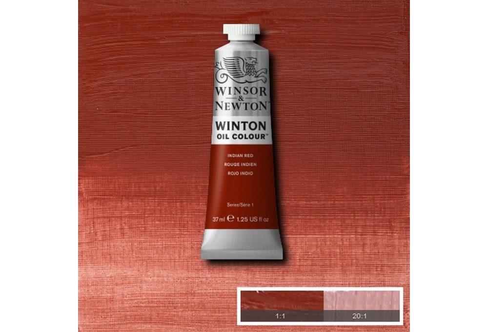 Выкраска масляной краски Winton Индийский красный (Indian Red)