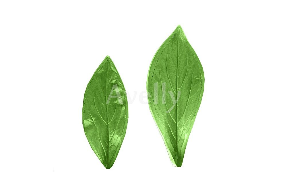 текстурный молд лист пиона, 2 части