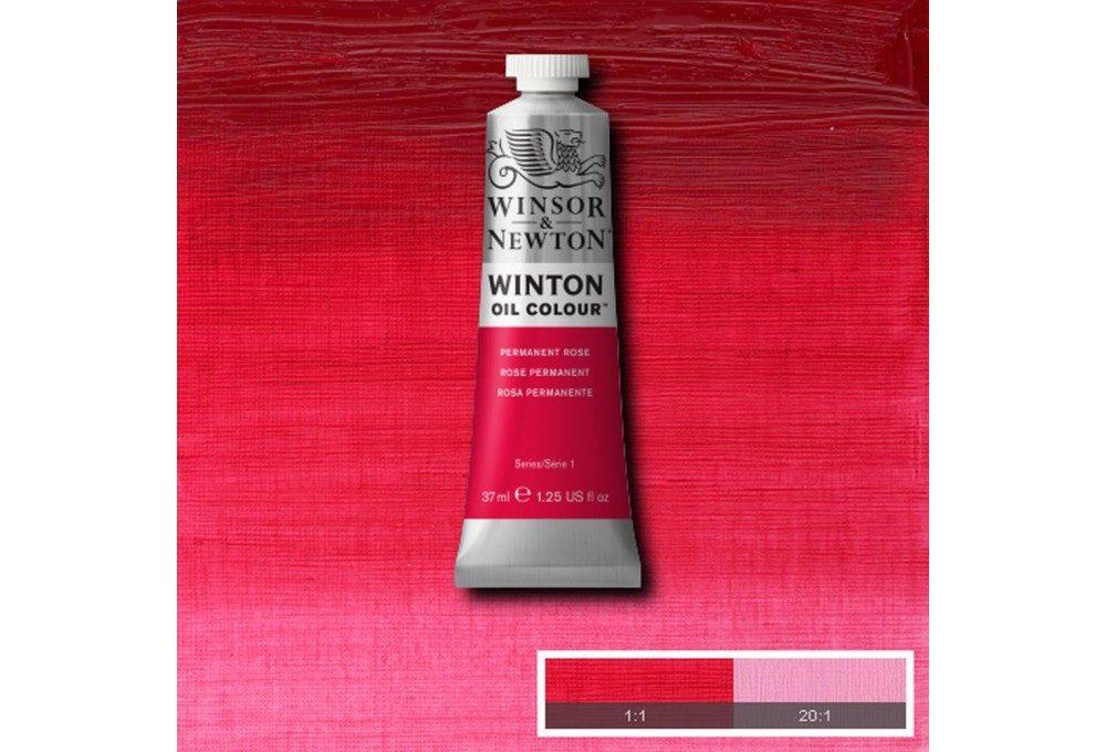 Выкраска масляной краски Winton Розовый перманентный (Permanent Rose)