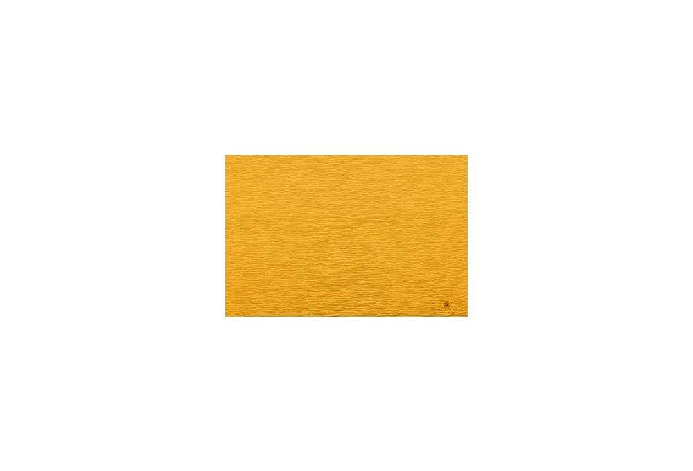 гофрированная бумага желтая