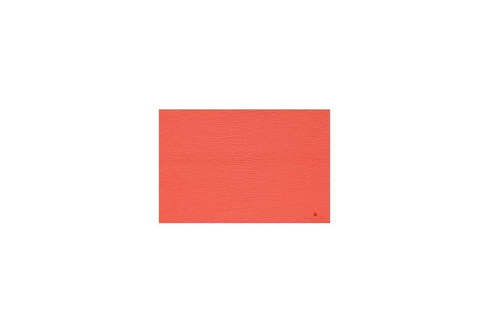гофрированная бумага персиковая