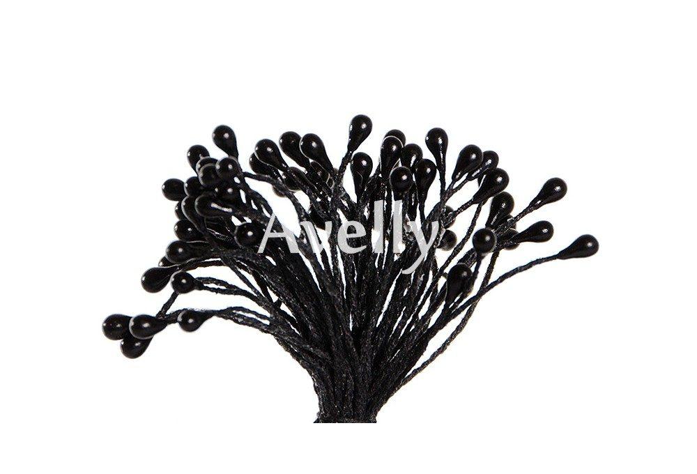 Тычинки для цветов черные перламутровые