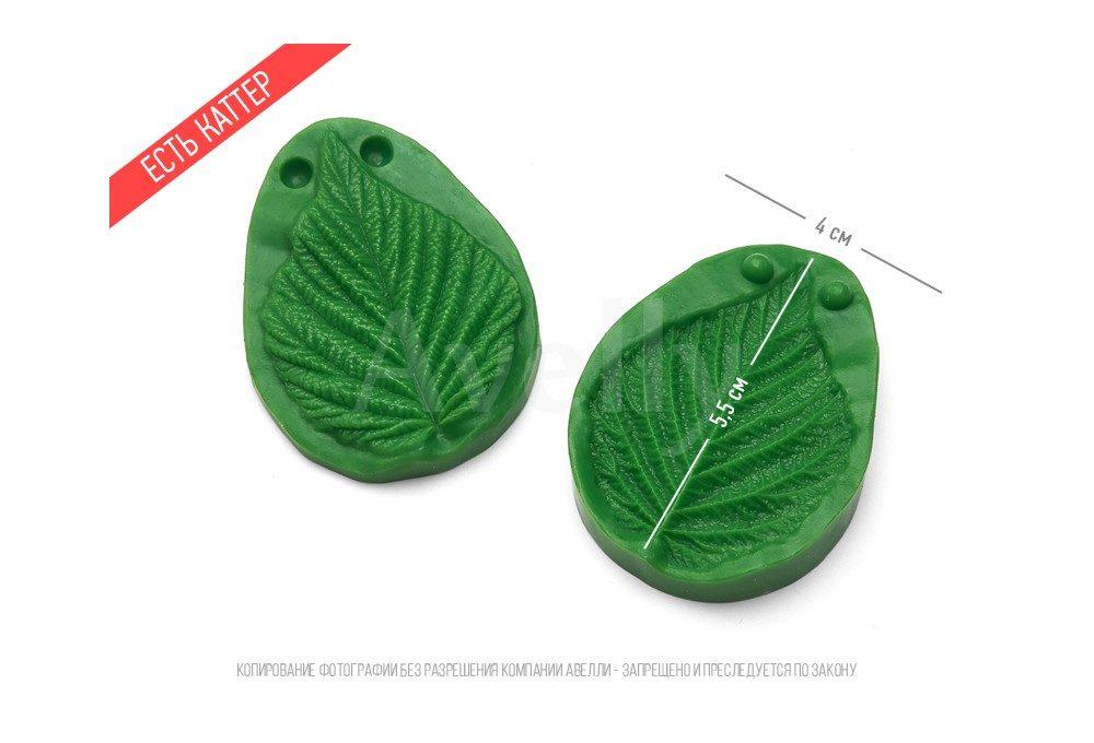 Маленький и очень рельефный лист малины