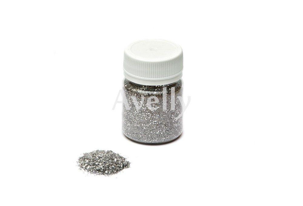 серебряный песок с блестками