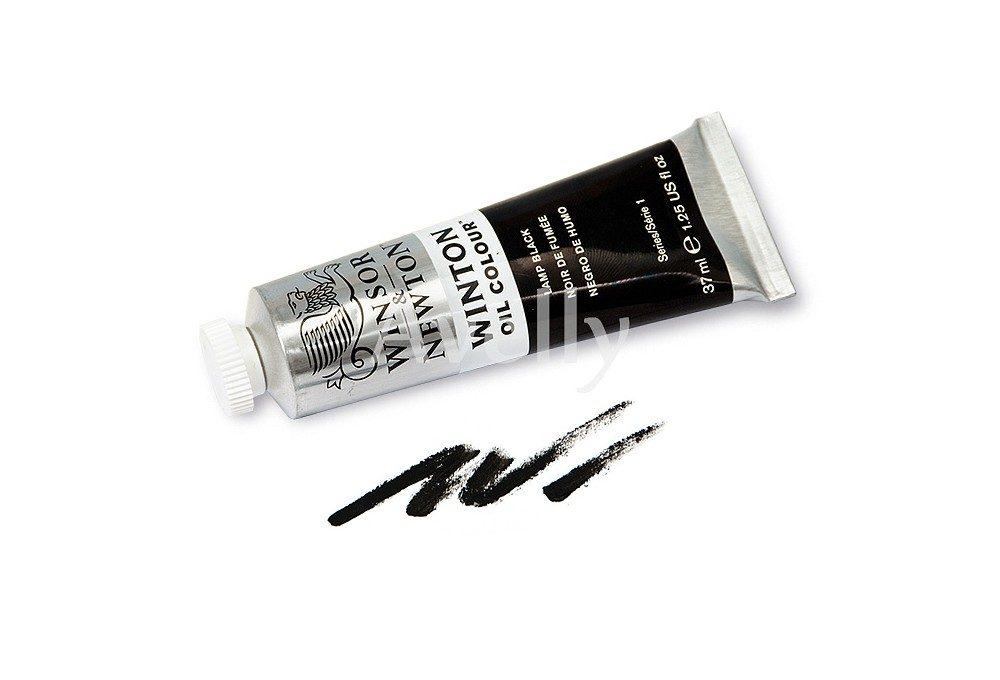 Масляная краска Winton, черный цвет, lamp black