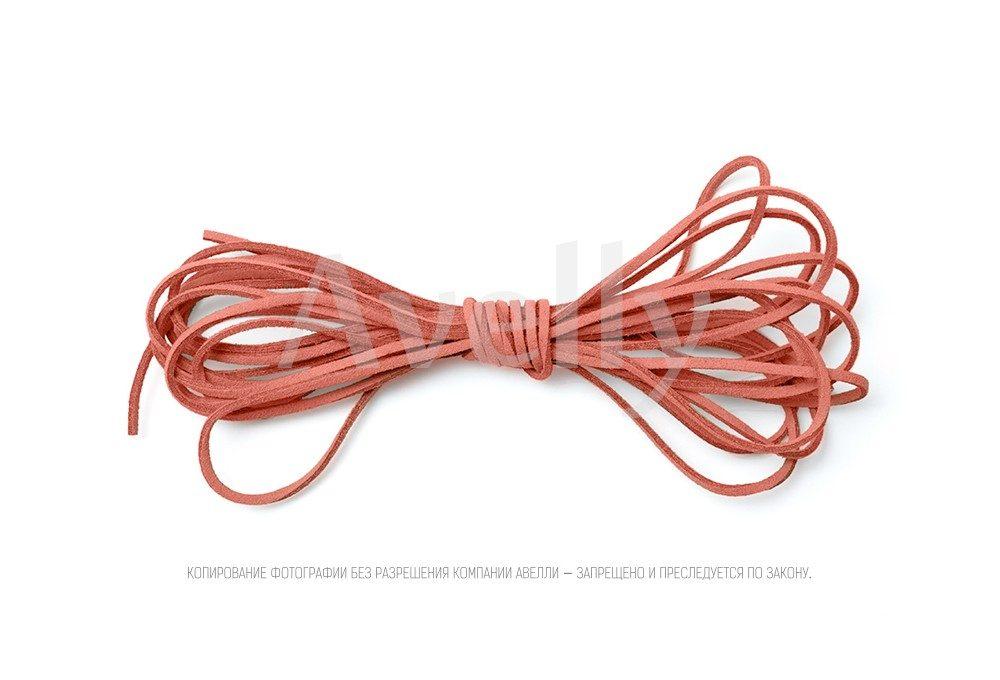 Шнур замшевый клубничный зефир (розовый) для украшений купить