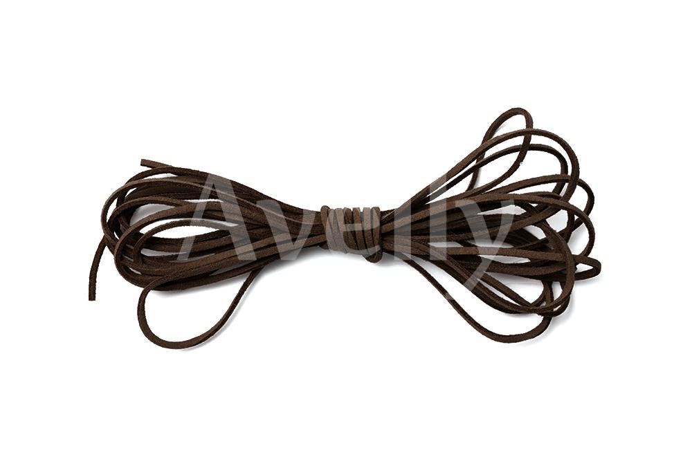 Шнур замшевый темно-коричневый