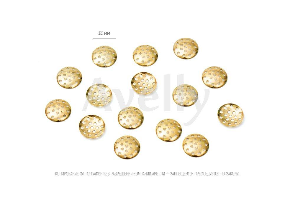 фурнитура для крепления 12 мм без булавки золото