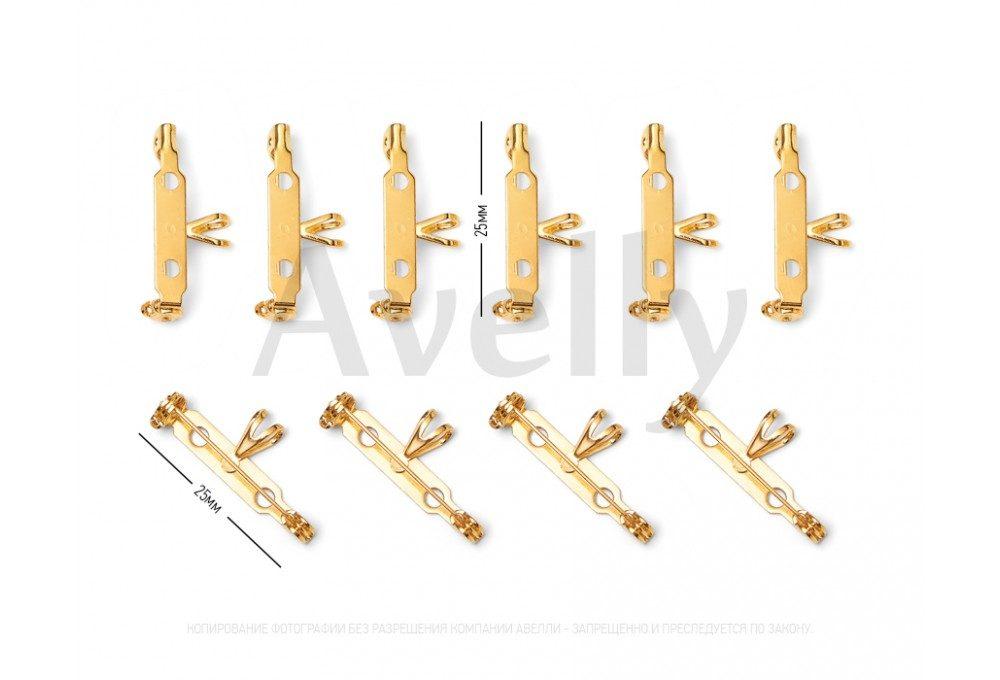 Булавка для броши и подвески золотая