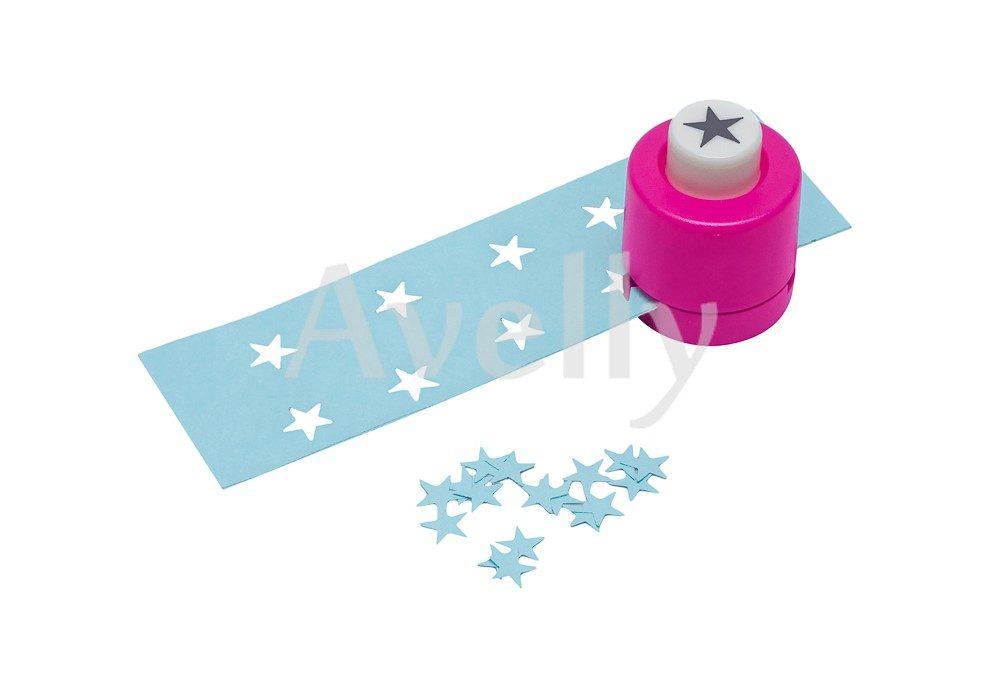 Фигурный дырокол для творчества и скрапбукинга в виде звезды, 8 мм