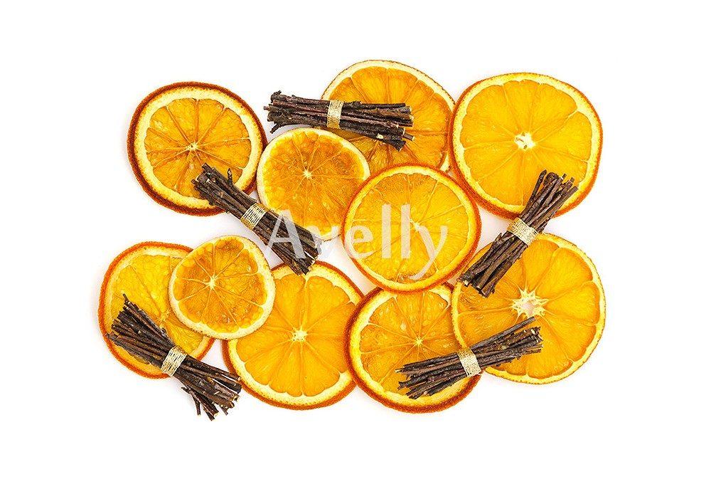 новогодний набор из сушеных апельсинов и березовых снопиков