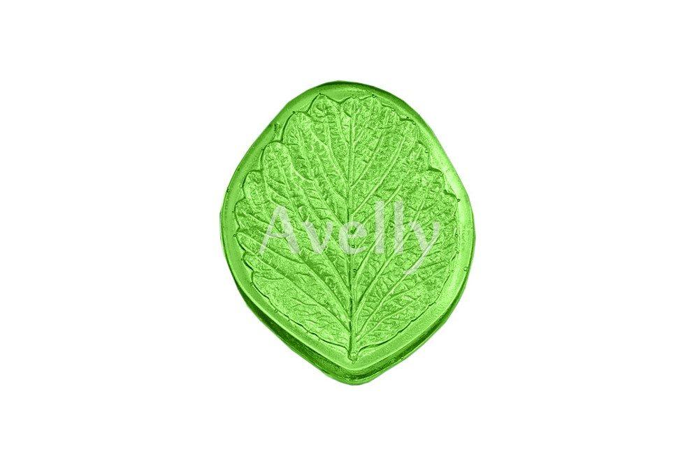 текстурный молд лист клубники