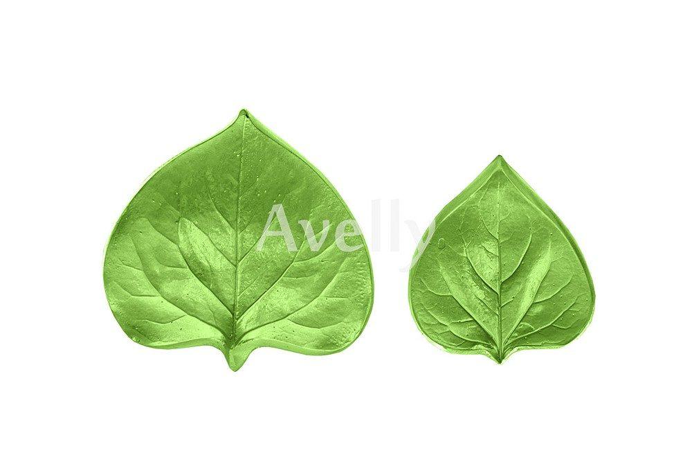 Текстурный молд лист сирени средний и маленький