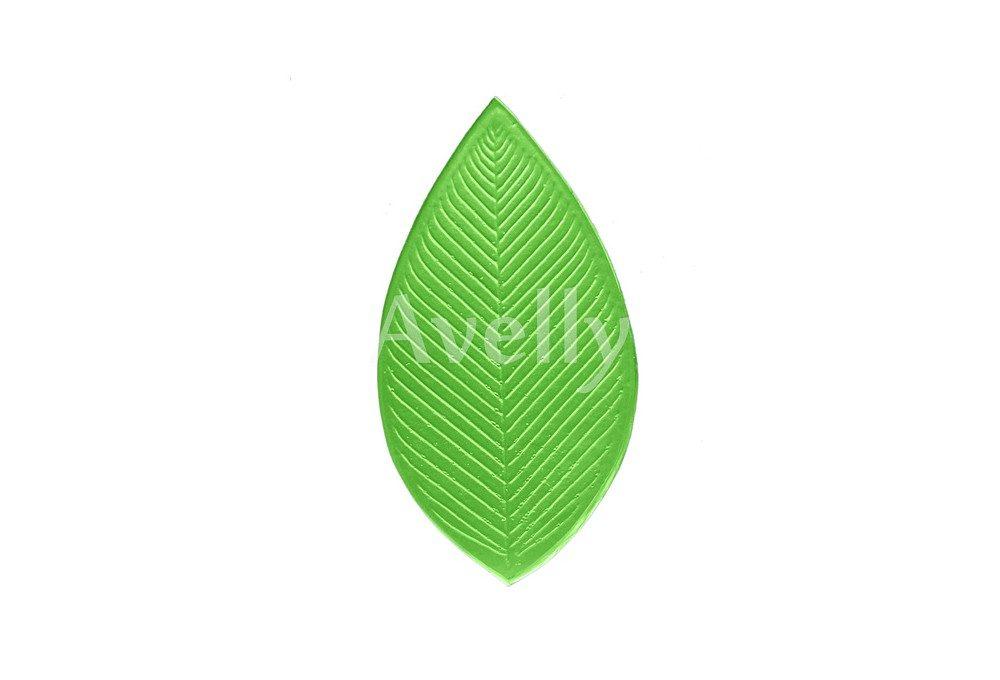 текстурный молд для цветов лист рябины большой