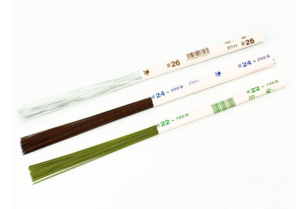Японская проволока в коричневой бумажной обмотке №22