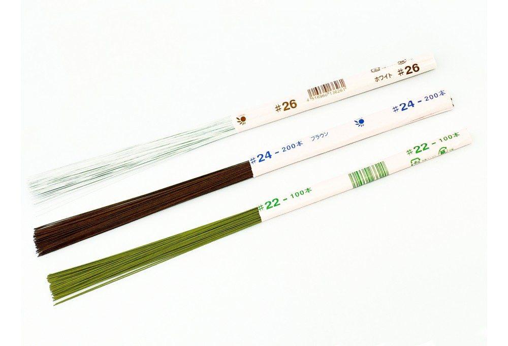 Японская проволока в зеленой бумажной обмотке №33