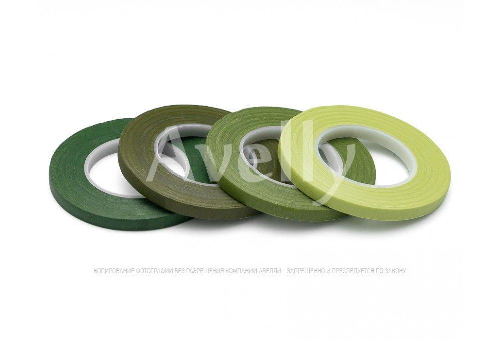 зеленая палитра флористической ленты
