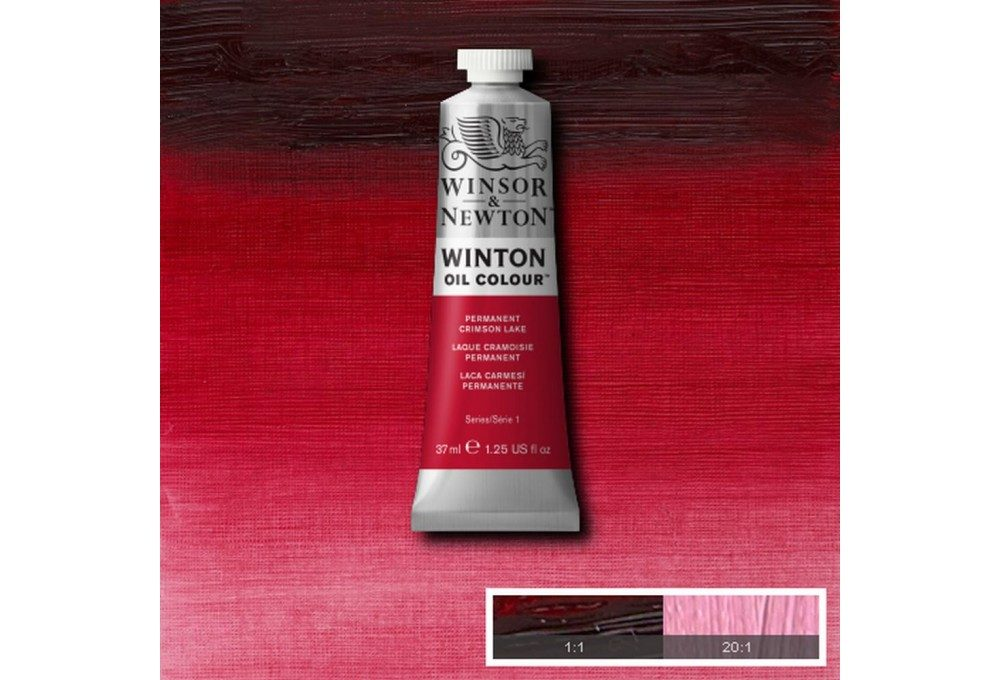 Выкраска масляной краски Winton Перманентный малиновый (Permanent Crimson Lake)