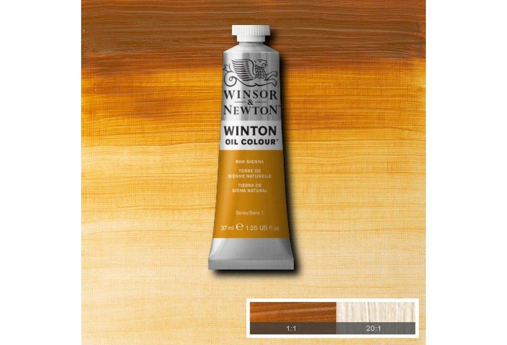 Выкраска масляной краски Winton Сиена натуральная (Raw Sienna)