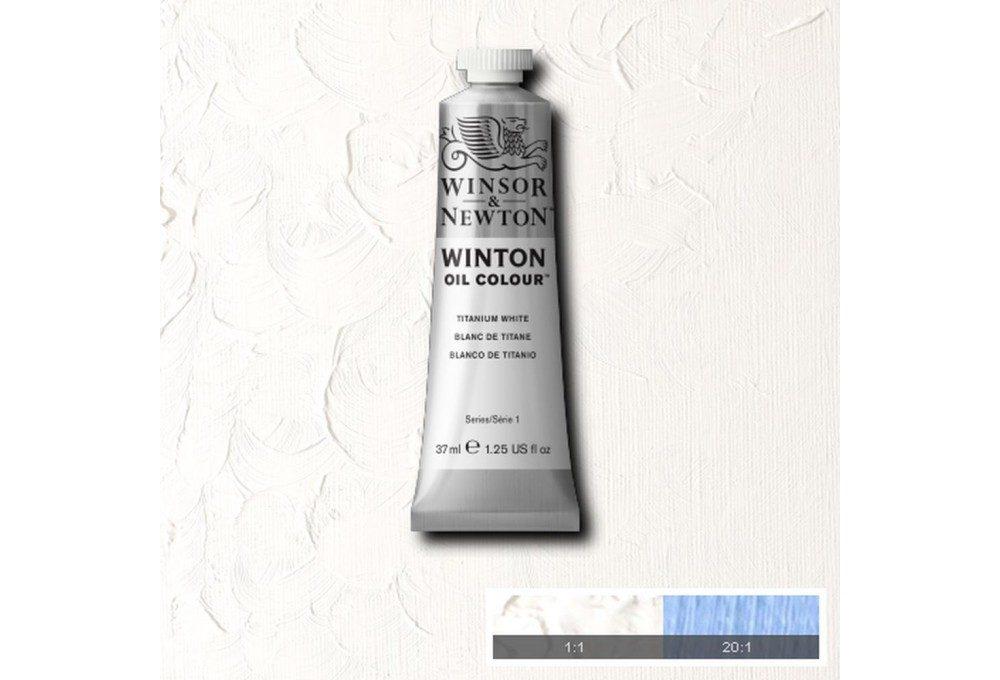 Выкраска масляной краски Winton Белила титановые (Titanium White