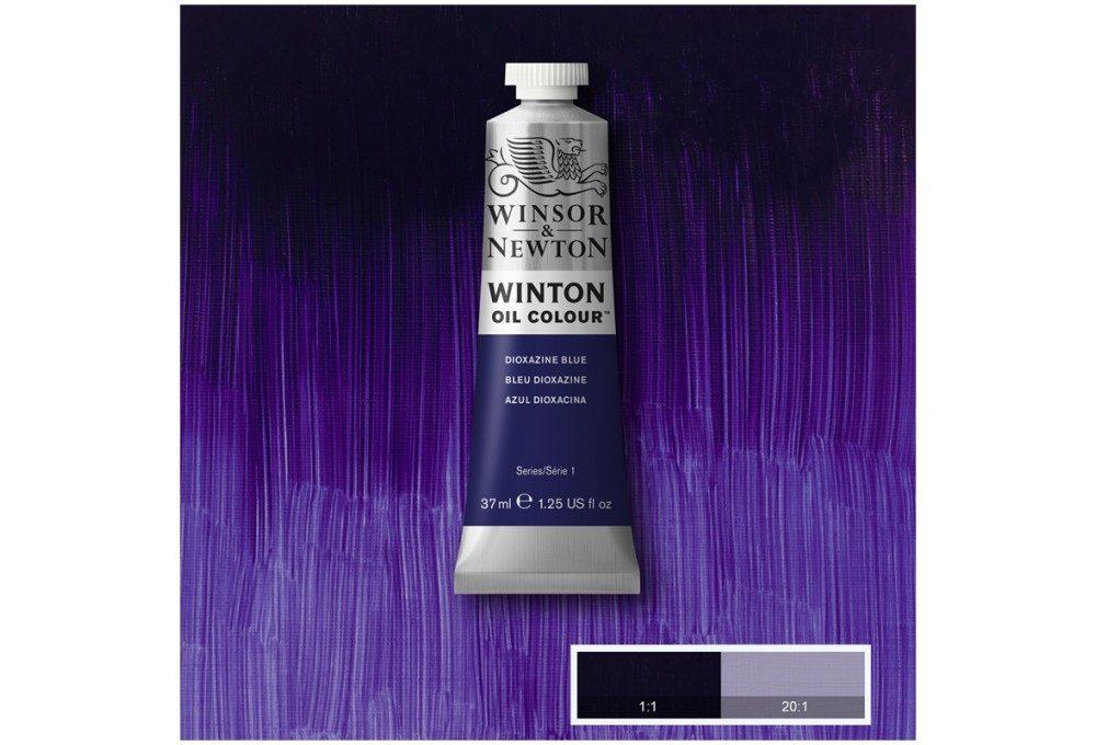 Выкраска масляной краски Winton Фиолетовый синий (Dioxazine blue)