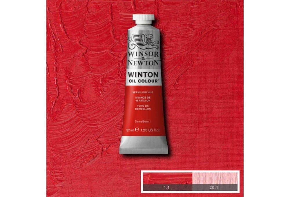 Выкраска масляной краски Winton Киноварь Vermilion Hue