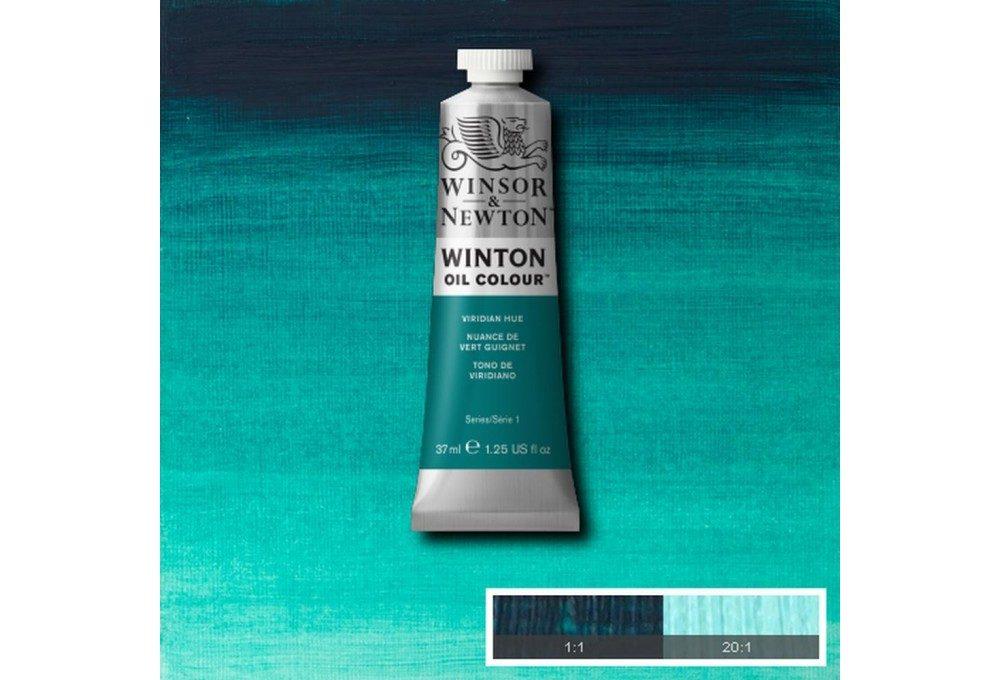 Выкраска масляной краски Winton Виридоновая фтало (Viridian hue)