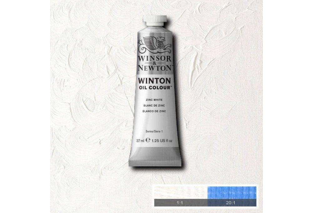 Выкраска масляной краски Winton Цинковые белила (Zinc White)