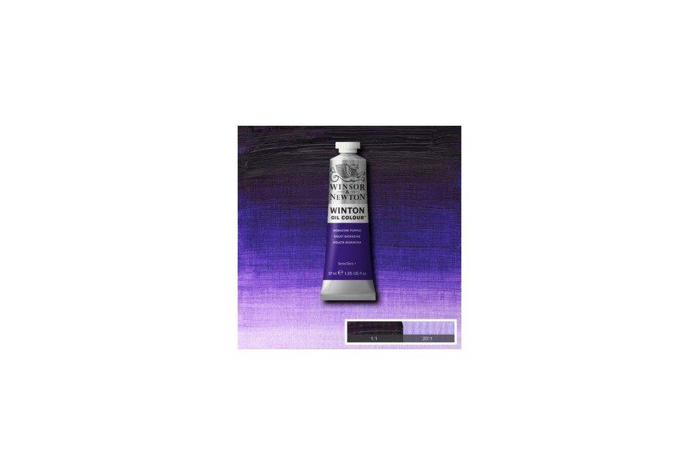 Выкраска масляной краски WInton Пурпурный диоксазин Dioxazine purple