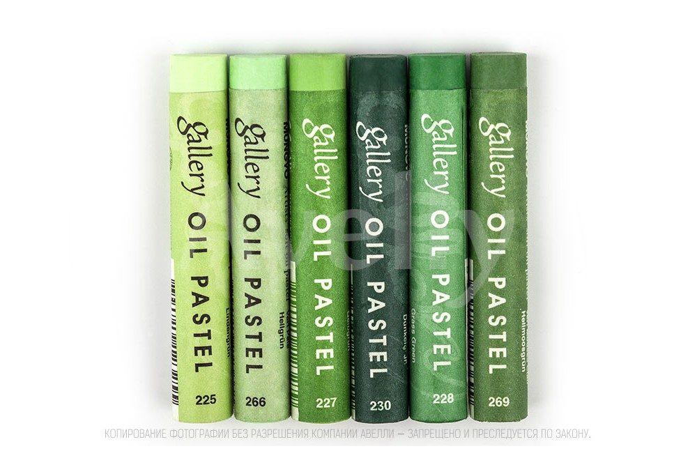 набор пастельных мелков для зелени и листьев