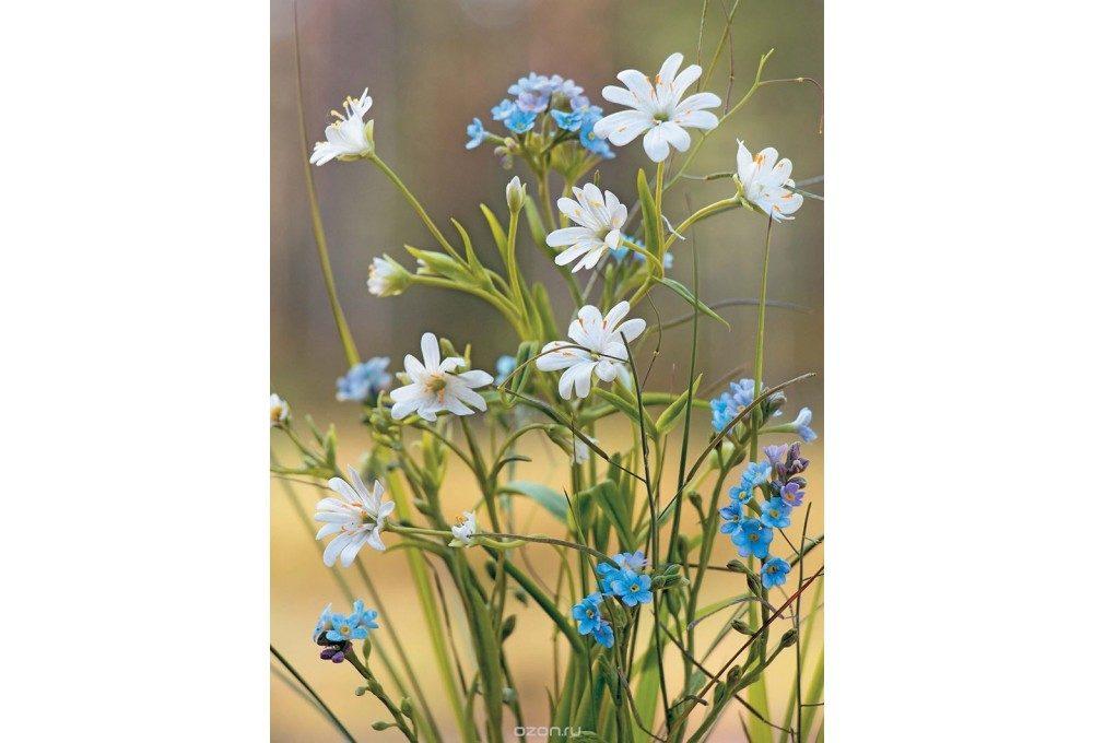 весенние цветы из глины