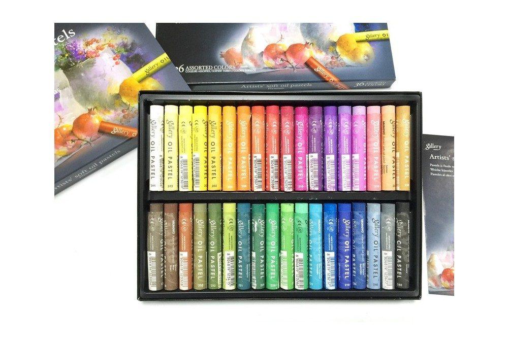 пастель масляная 36 цветов крупный план