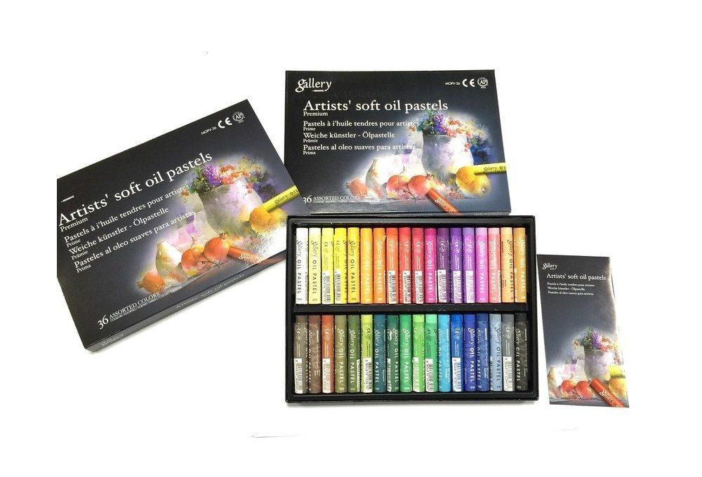 пастель масляная 36 цветов общая