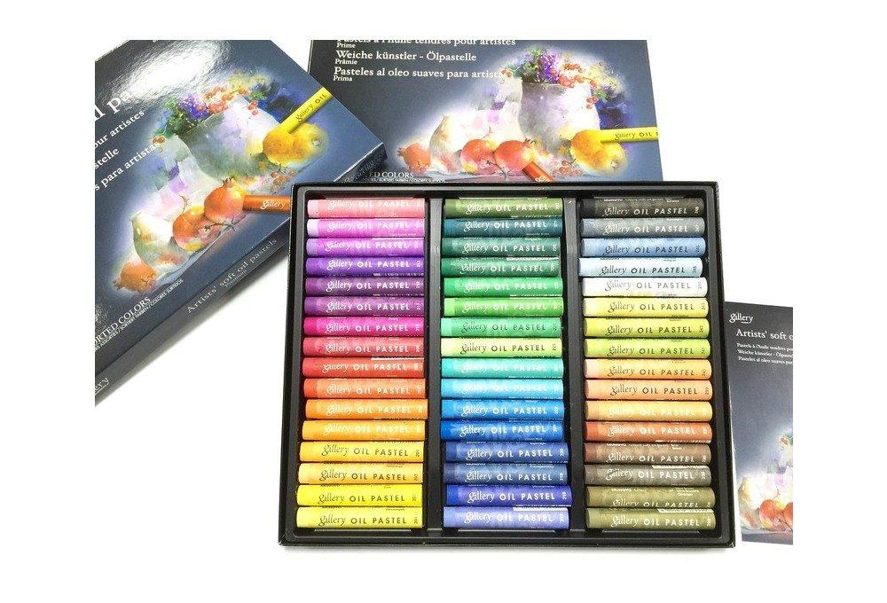 пастель масляная 48 цветов крупный план