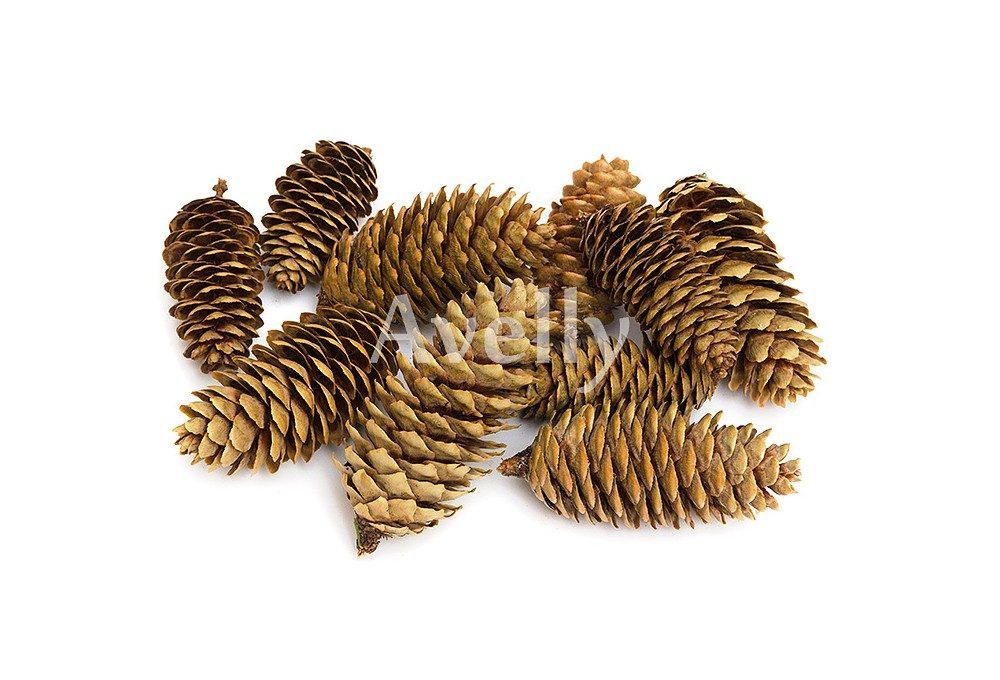 Декор новогодний шишка еловая натуральная