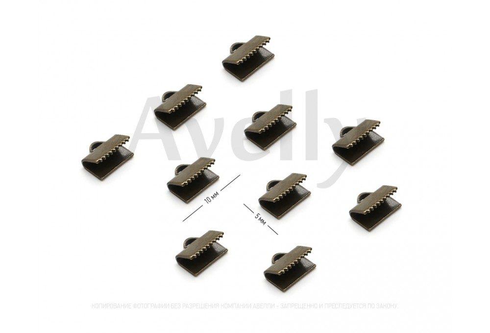 зажим-концевик для браслетов под бронзу