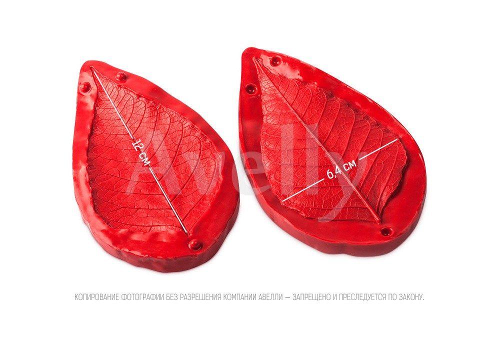 силиконовый вайнер лист пуансетии большой