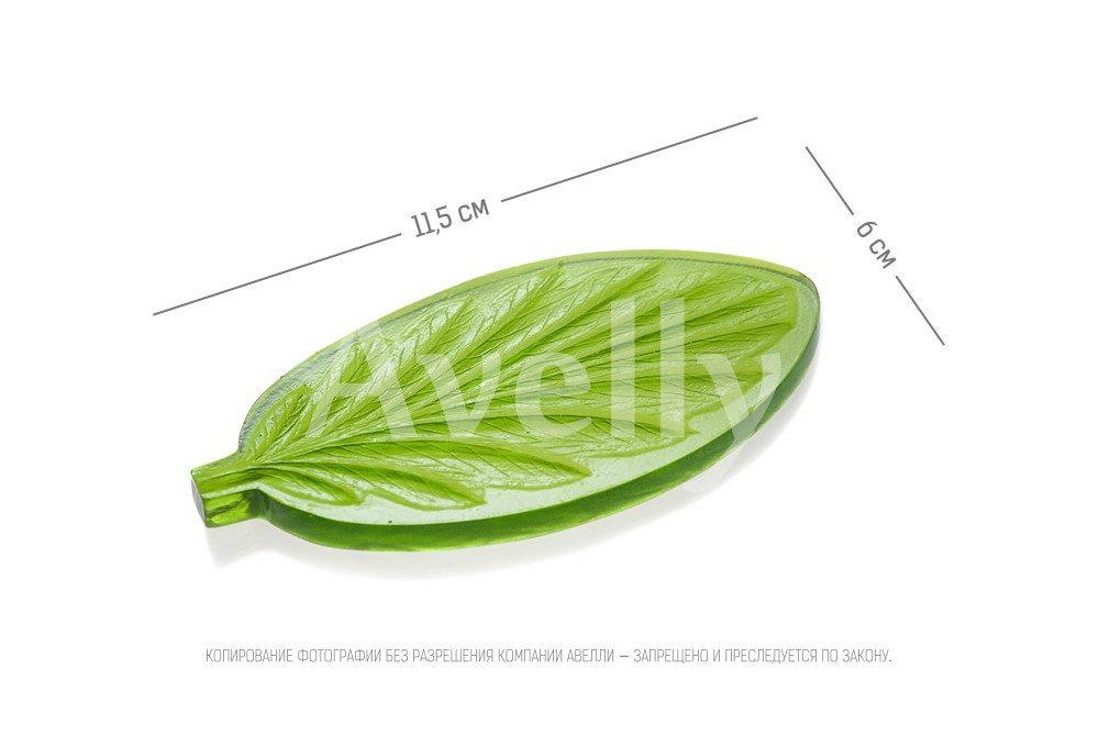 текстурный молд лист анютины глазки-2