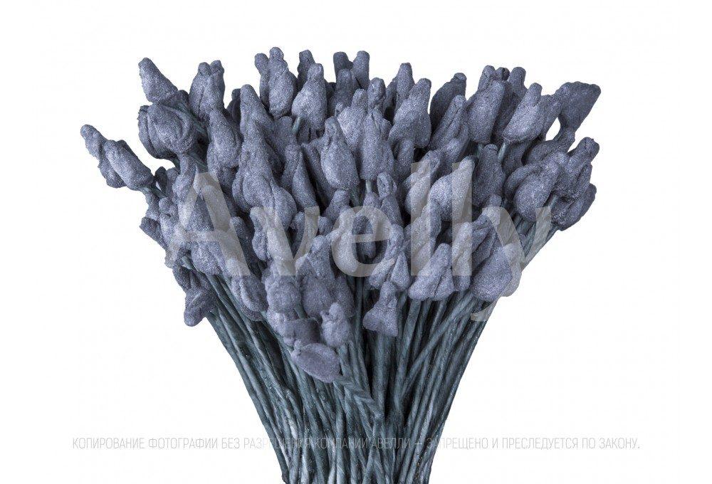 японские тычинки серого цвета для розы