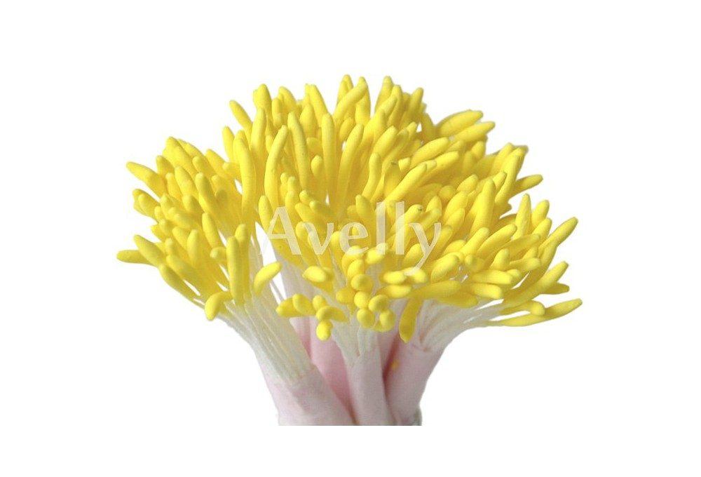 Тычинки для цветов желтые длинные