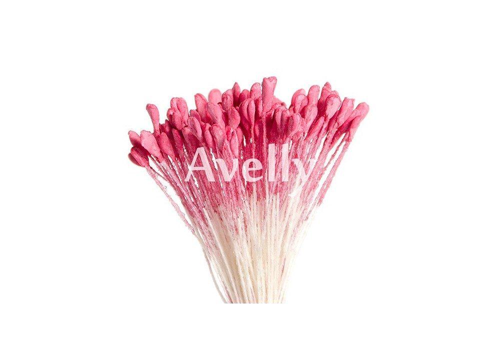 Тычинки для цветов насыщенно-розового цвета