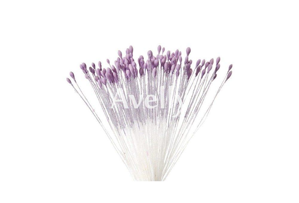 Тычинки для цветов лавандовые, мелкие